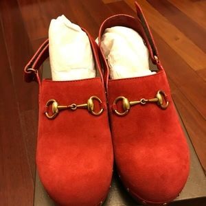 Authentic Red Gucci Clogs